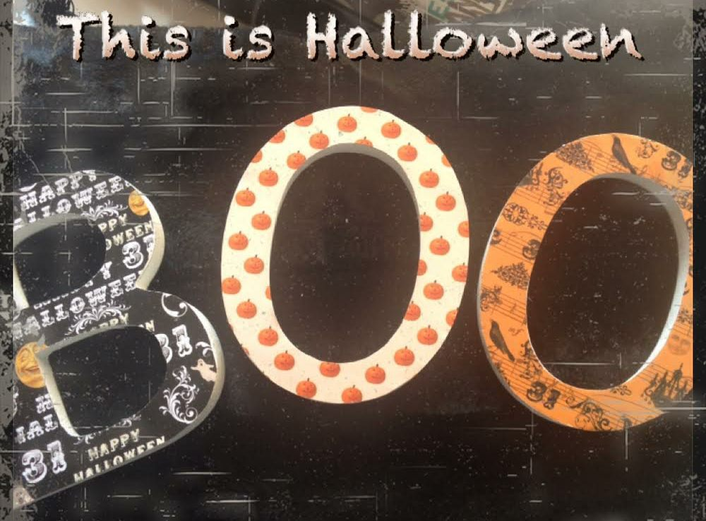 Letras decoradas Halloween