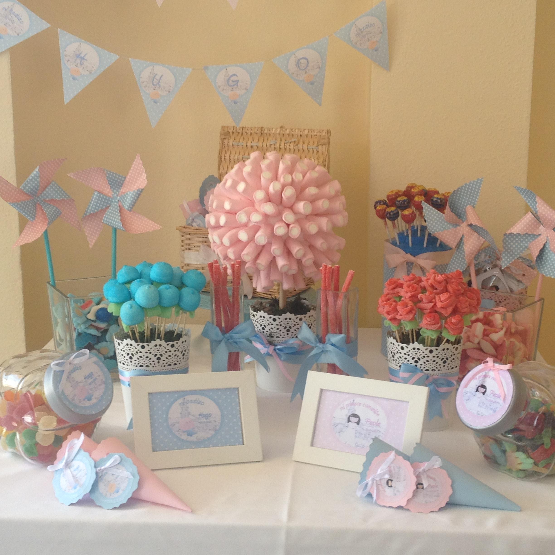 Comuniones mesa dulce regalos a invitados en un - Como decorar una mesa de comunion ...