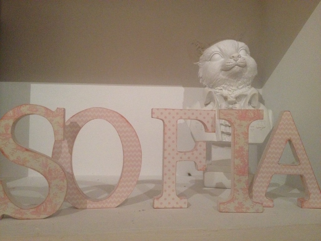 letras de madera decoradas