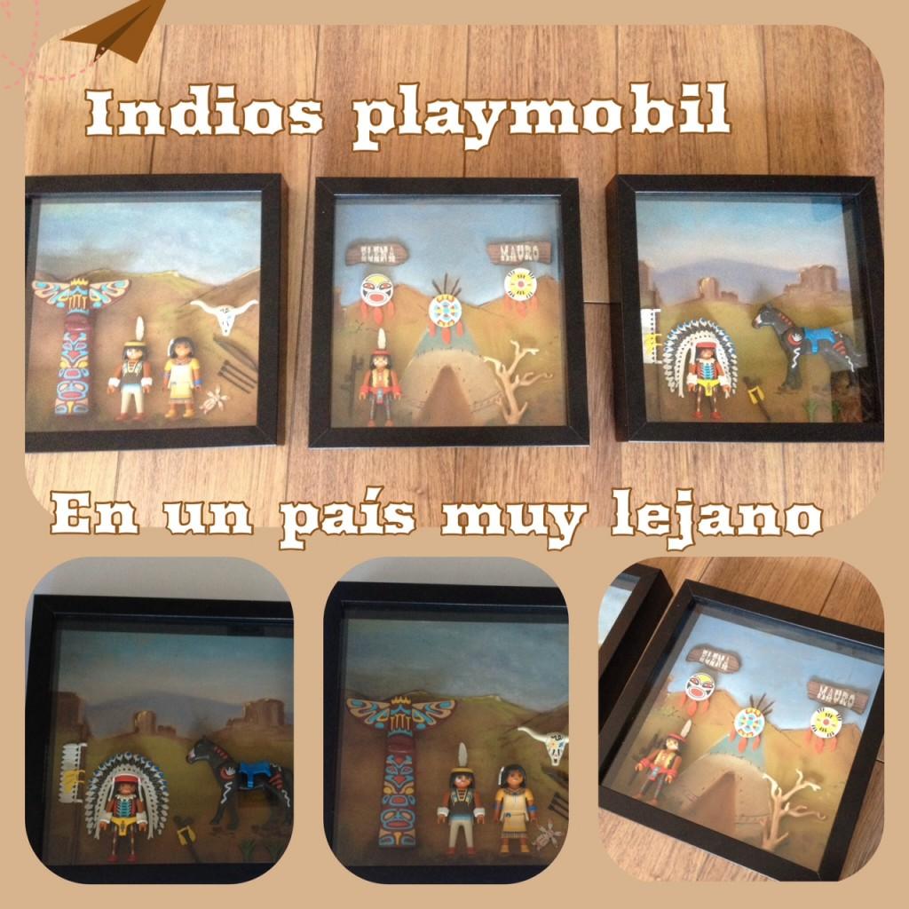 Cuadro playmobil indios