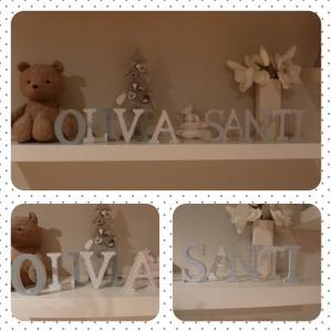 letras de madera decoradas nombre decoracion infantil