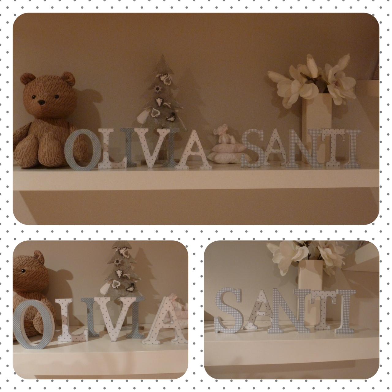 decoracion infantil+letras madera