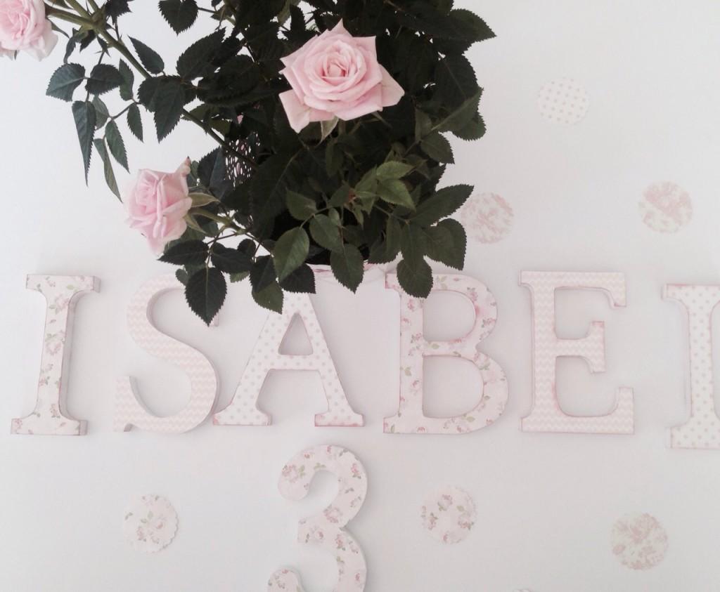 letras de madera decoradas decoracion infantil