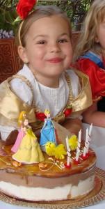 Tarta de cumpleaños de princesas disney
