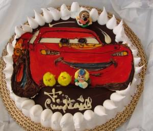 Tarta de cumpleaños de Cars