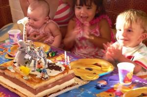 Tarta de cumpleaños de Madagascar