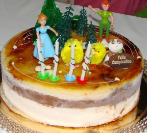 Tarta de cumpleaños de Peter Pan