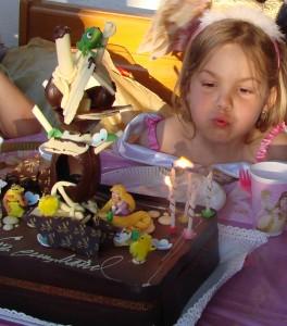 Tarta de cumpleaños de Rapunzel