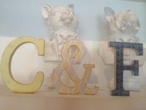 letras decoradas en un pais muy lejano