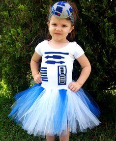 R2 D2 DIY disfraz Star Wars tutu