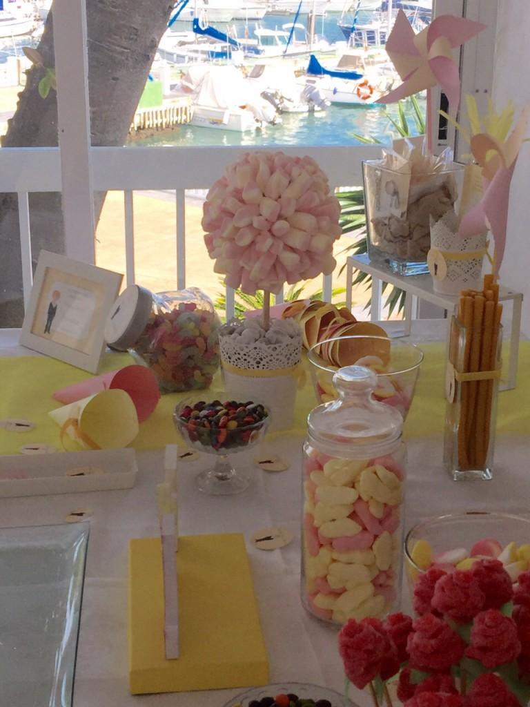 Mesa dulce de primera comunion