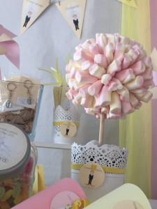 Mesa dulce de primera comunion etiquetas decoracion mesa