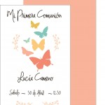 Primera comunión modelo mariposas