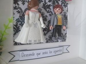 Cuadros de boda de playmobil