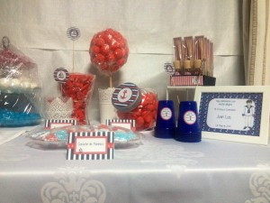 Primera comunión marinera mesa dulce
