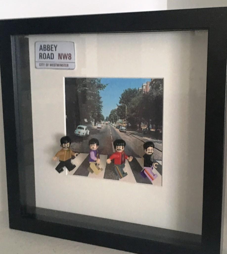 cuadro lego minifigures abbey road