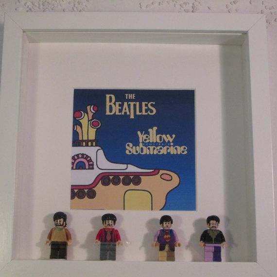 cuadro beatles lego minifiguras