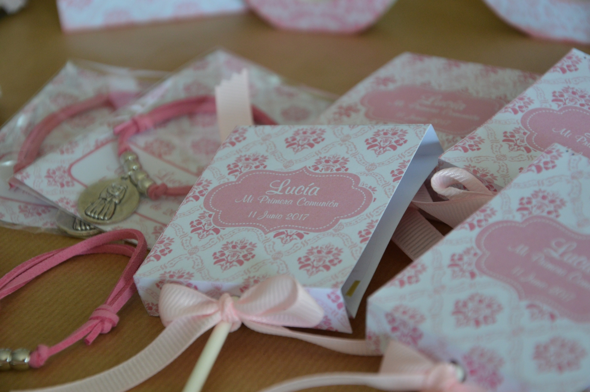 piruletas personalizadas primera comunion rosa eupml