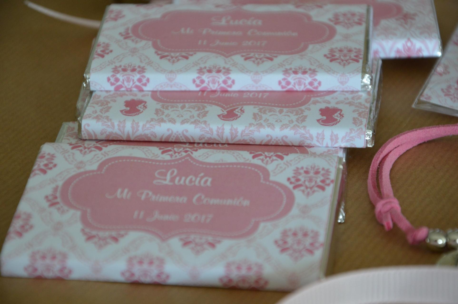 chocolatinas personalizadas primera comunion rosa eupml
