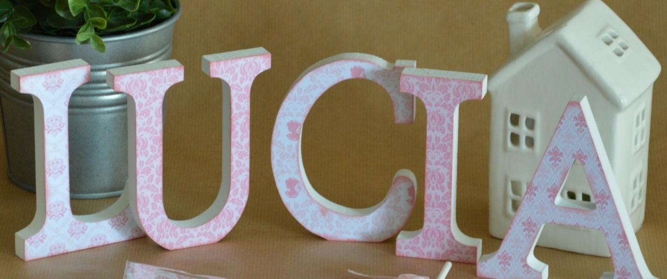 letras decoradas primera comunion rosa