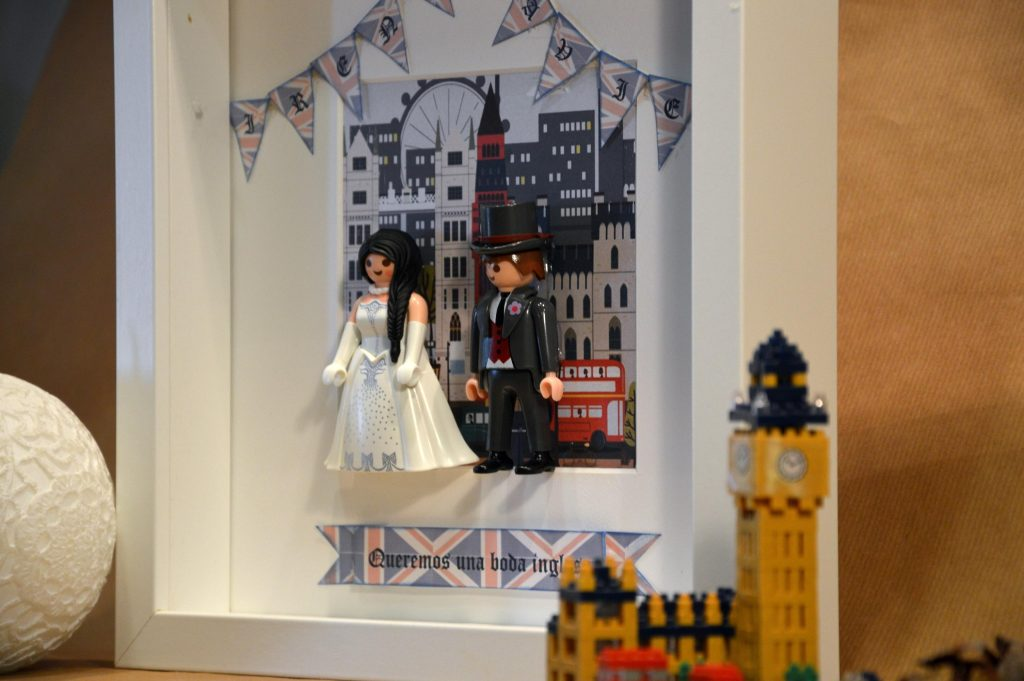cuadros de novios de playmobil Londres Reino Unido UK
