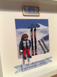 cuadros de playmobil deportes ski esqui