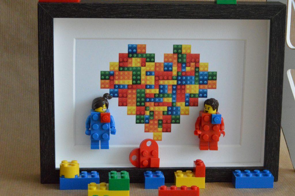 Cuadros de lego san valentín lego bricks corazon de lego