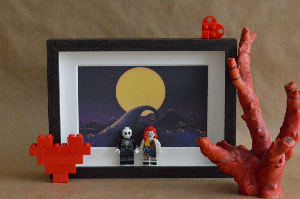 Cuadros de lego san valentín pesadilla antes de navidad jack skellington y la novia cadaver