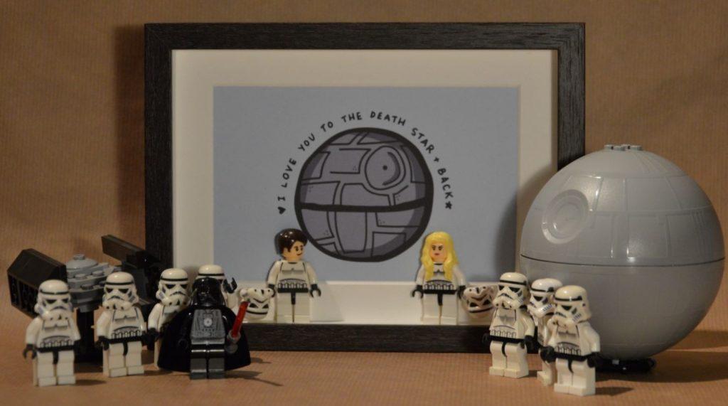 Cuadros de lego san valentín star wars storm troopers