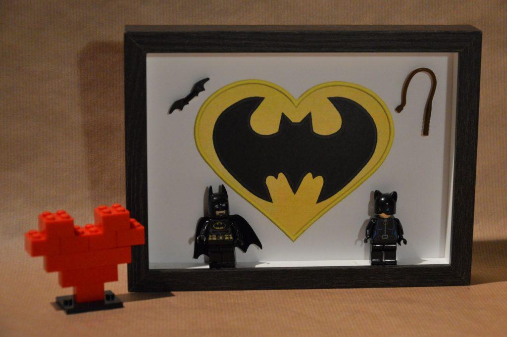 Cuadros de lego san valentín lbatman y catwoman
