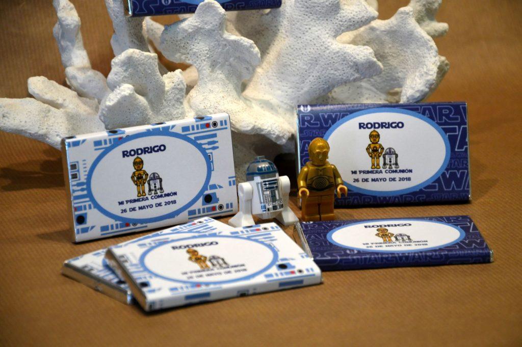 Chocolatinas personalizadas primera comunión star wars