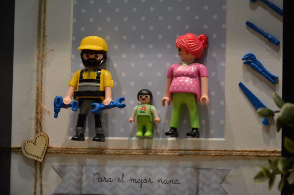 Cuadros de playmobil para el día de padre personalizados familia