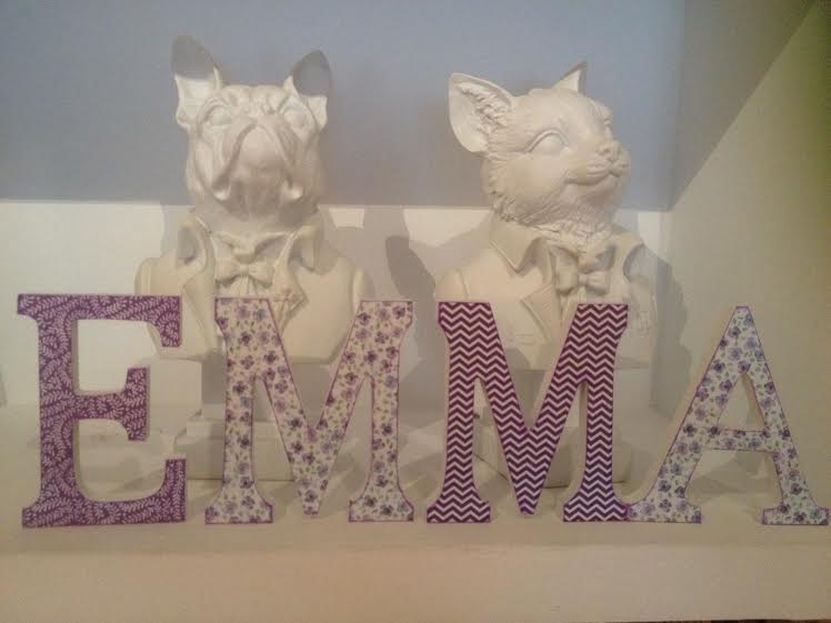 letras decoradas mesa dulce primera comunión lila