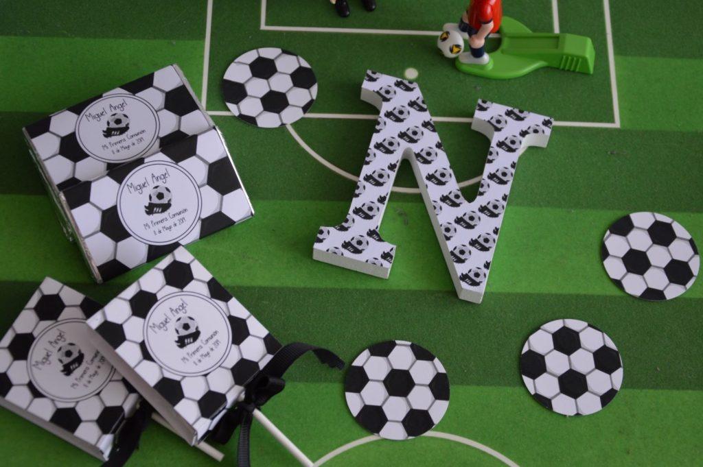 Primera comunión de fútbol  chocolatinas personalizadas fútbol