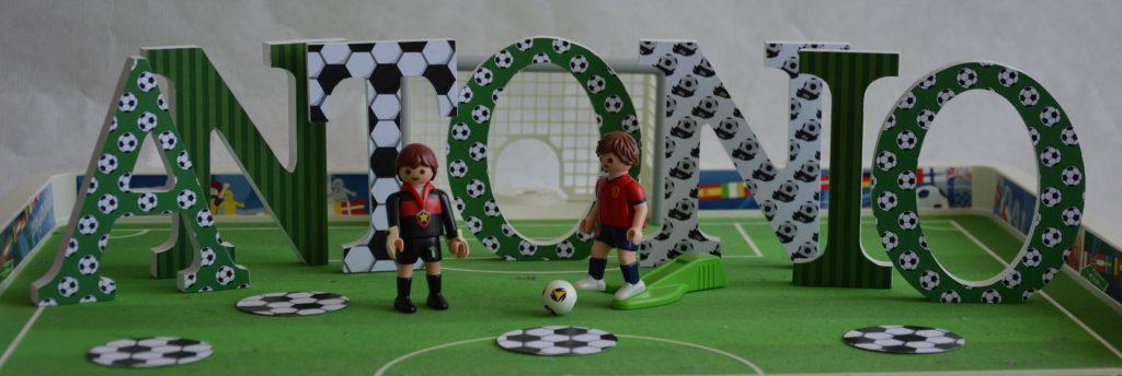 Primera comunión de fútbol letras decoradas